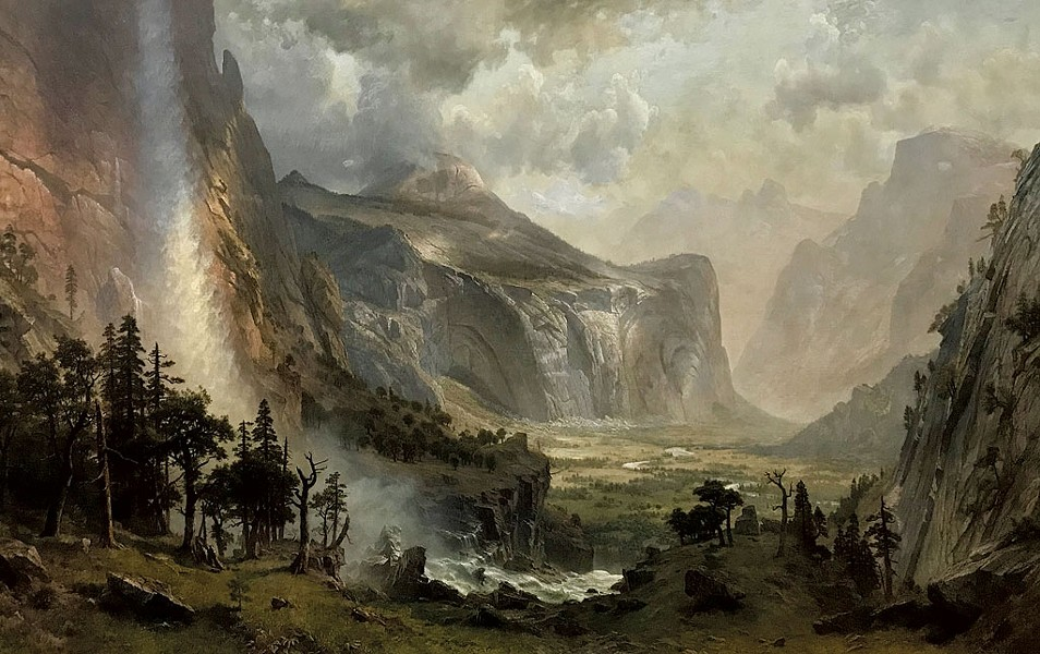 """""""The Domes of Yosemite"""" by Albert Bierstadt - COURTESY OF ST. JOHNSBURY ATHENAEUM"""