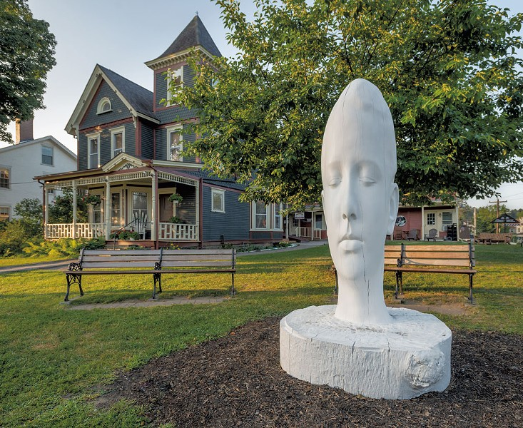 """""""White Forest (Duna)"""" by Jaume Plensa - PHOTOS COURTESY OF HELEN DAY ART CENTER/PAUL ROGERS PHOTOGRAPHY"""