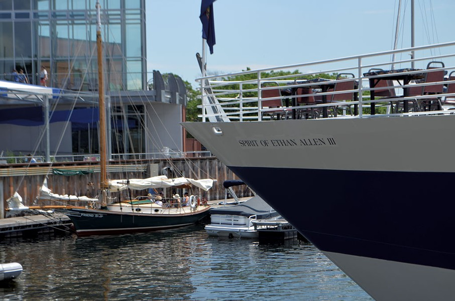 The Spirit of Ethan Allen III docked at Burlington's waterfront - KEN PICARD