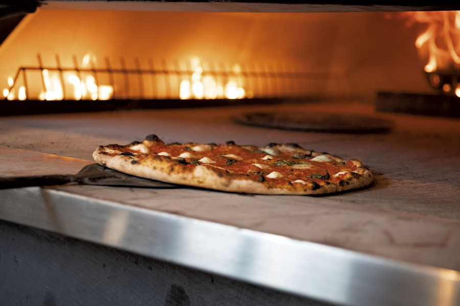 Margherita pizza at Folino's - JAMES BUCK