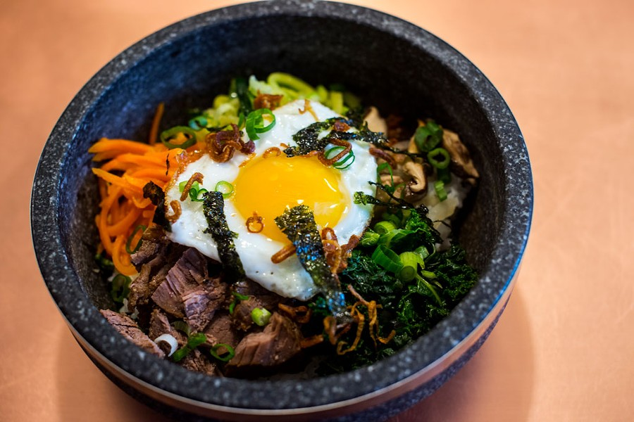 Stone bowl of bibimbap at Banchan - FILE: JAY ERICSON
