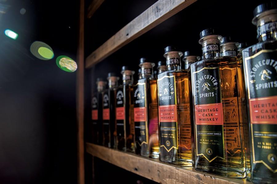 The whiskey at Stonecutter Spirits Highball Social - JAMES BUCK