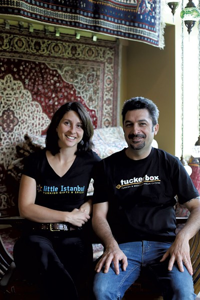 Jackie and Vural Oktay in White River Junction's Little Istanbul - SARAH PRIESTAP