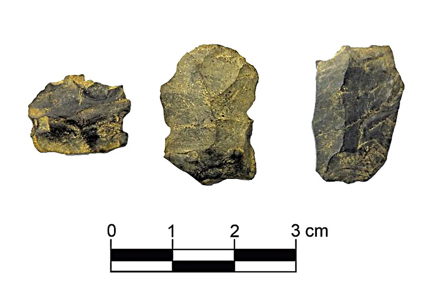 Artifacts found at the site - COURTESY OF NORTHEAST ARCHAEOLOGY RESEARCH CENTER