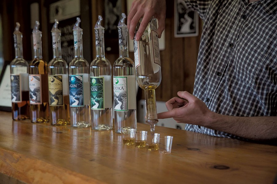 A tasting at Smugglers' Notch Distillery - COURTESY OF SMUGGLERS' NOTCH DISTILLERY