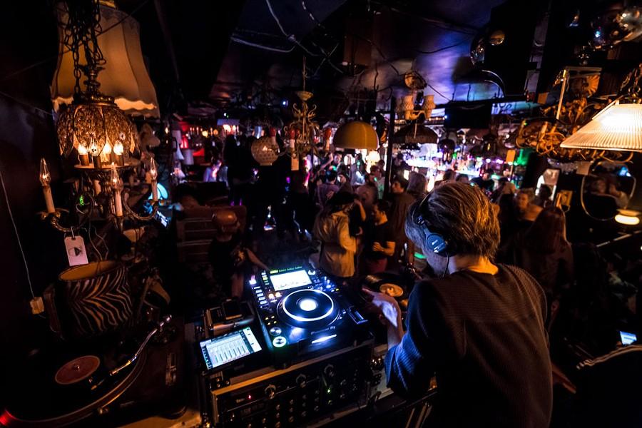 DJ Taka at the Light Club Lamp Shop - LUKE AWTRY