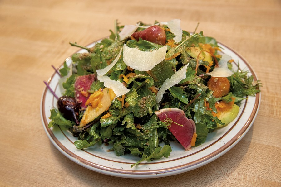 Fall greens salad at Pizzeria Ida - JAMES BUCK