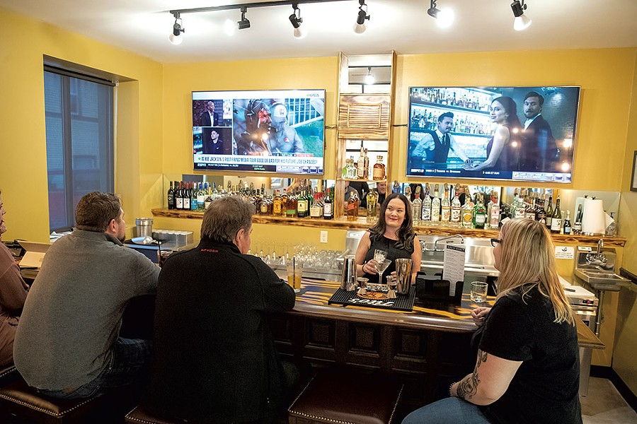 Melissa Jayne tending bar - JAMES BUCK