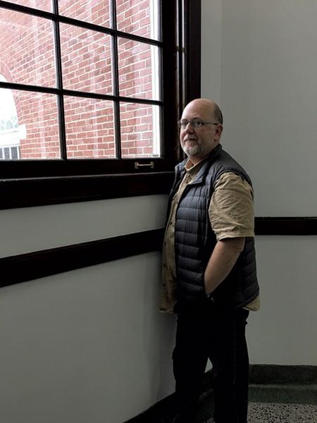 Paul Besaw in Cohen Hall - PAMELA POLSTON