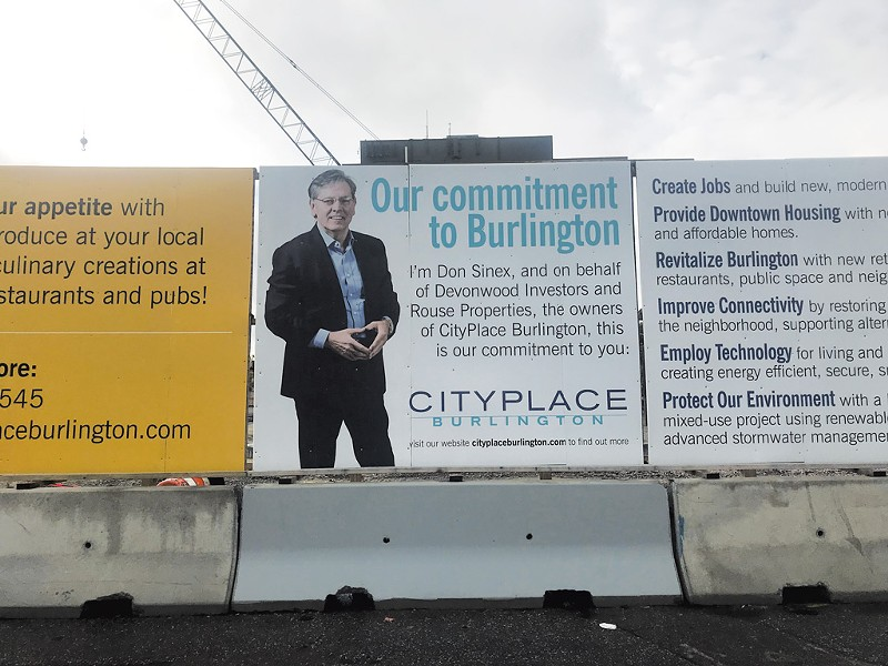 CityPlace Burlington signs on Cherry Street - JOHN JAMES