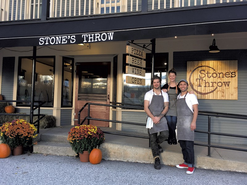 From left: Silas Pollitt, Allie Duhamel and Tyler Stratton of Stone's Throw - COURTESY OF STONE'S THROW