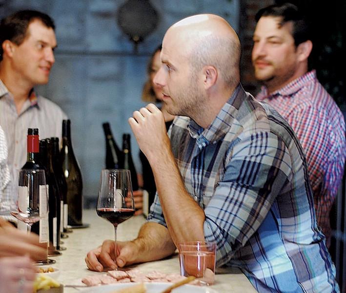 Master sommelier Dustin Wilson giving a wine tasting at Dedalus Wine Shop, Market & Wine Bar - COURTESY OF DEDALUS WINE SHOP, MARKET & WINE BAR