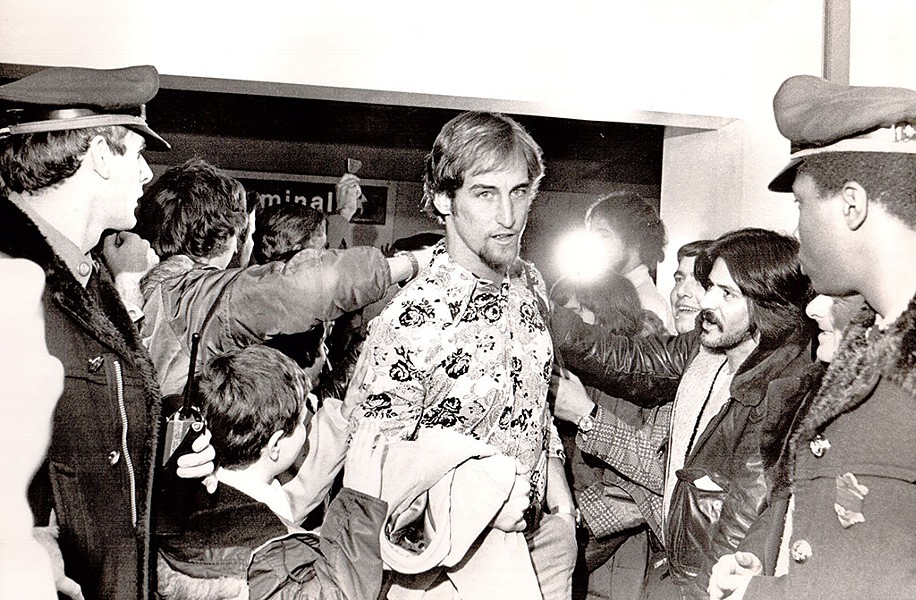 Former New England Patriots quarterback Steve Grogan, 1976