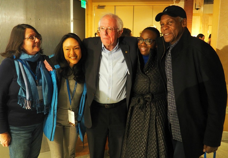 Actor Danny Glover, right, is a speaker at the Sanders Institute Gathering. - TAYLOR DOBBS