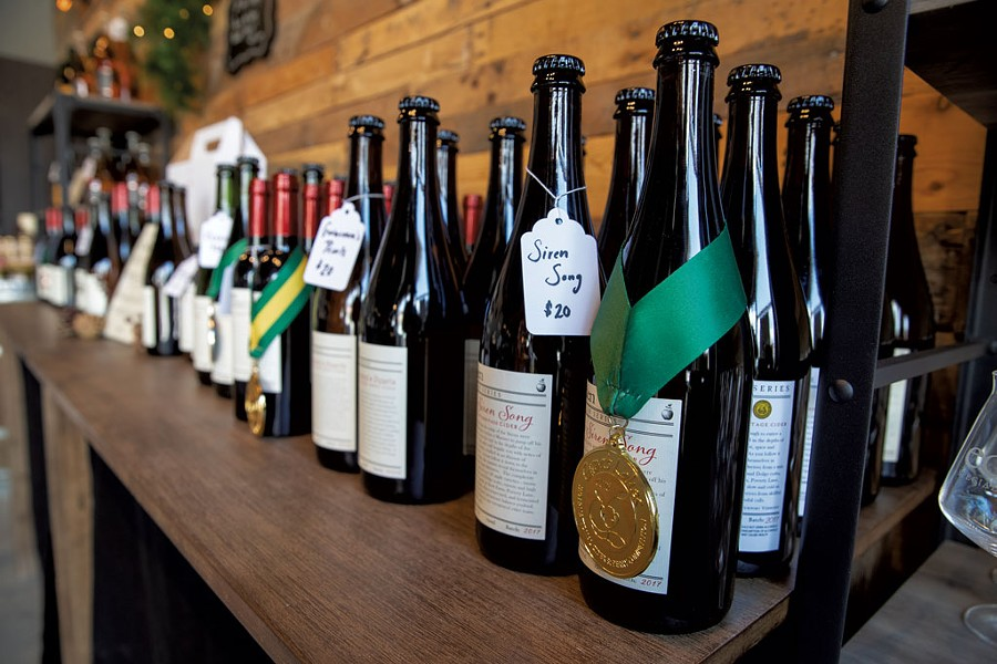 Award-winning ciders inside the taproom - JAMES BUCK