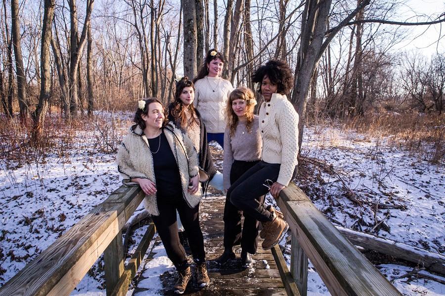 Amerykanka, from left: Alison Mott, Audrey Pirog, Rebecca Mack, Salka Thali and Stephanie Heaghney - LUKE AWTRY