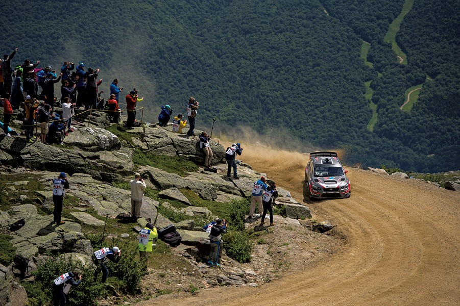 Travis Pastrana on his record-setting run at the Mount Washington Hillclimb Auto Race - COURTESY OF VERMONT SPORTSCAR AND SUBARU RALLY TEAM USA