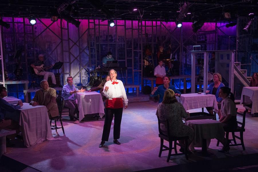 Beata Isaacs Randall as the waitress - COURTESY OF NANCY NUTILE-MCMENEMY