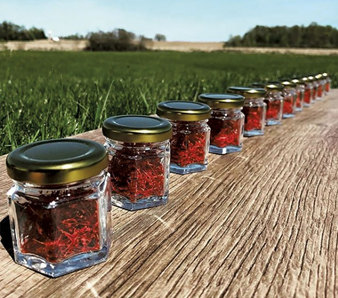 Jars of Saffron - COURTESY OF RED THREAD FARMSTEAD