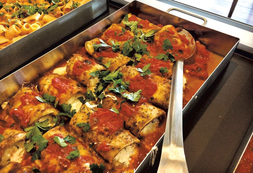 Eggplant rollatini - PHOTOS COURTESY OF SAUCE ITALIAN SPECIALTIES