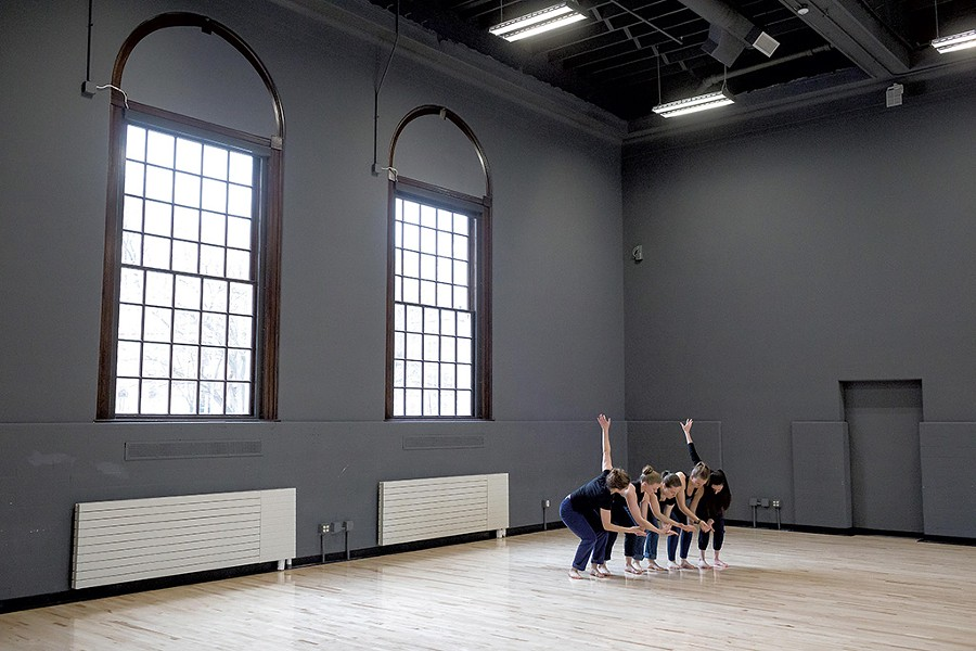 UVM dance students rehearsing in Cohen Hall - OLIVER PARINI