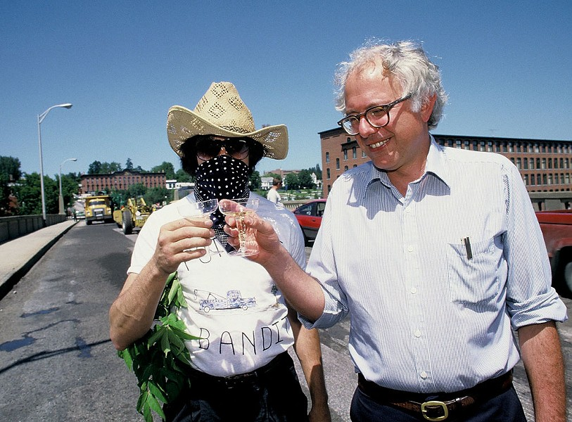 Pothole Bandit and Bernie Sanders, 1986 - COURTESY OF ROB SWANSON