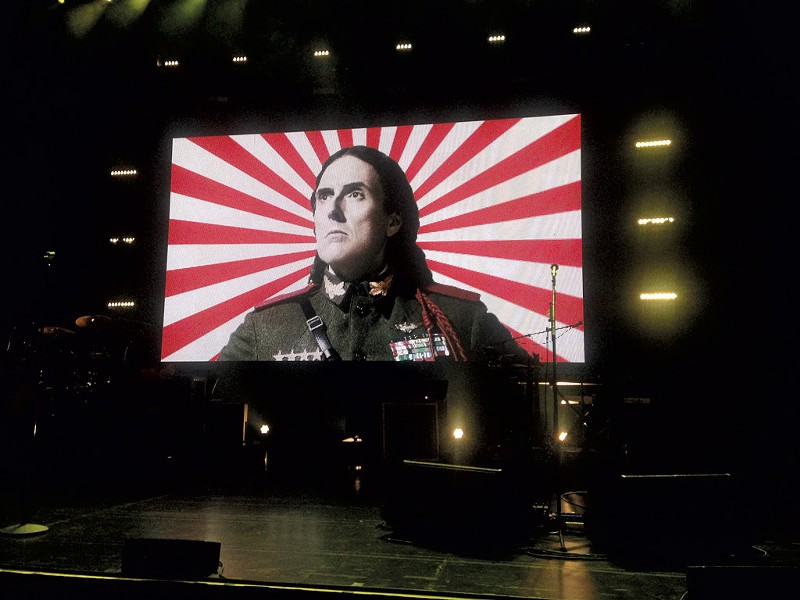 Weird Al Yankovic projected onstage at the Flynn Center - BOBBY HACKNEY JR.