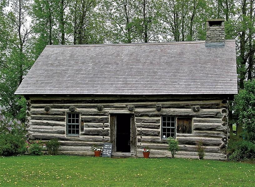 Hyde Log Cabin - COURTESY OF GRAND ISLE HISTORICAL SOCIETY
