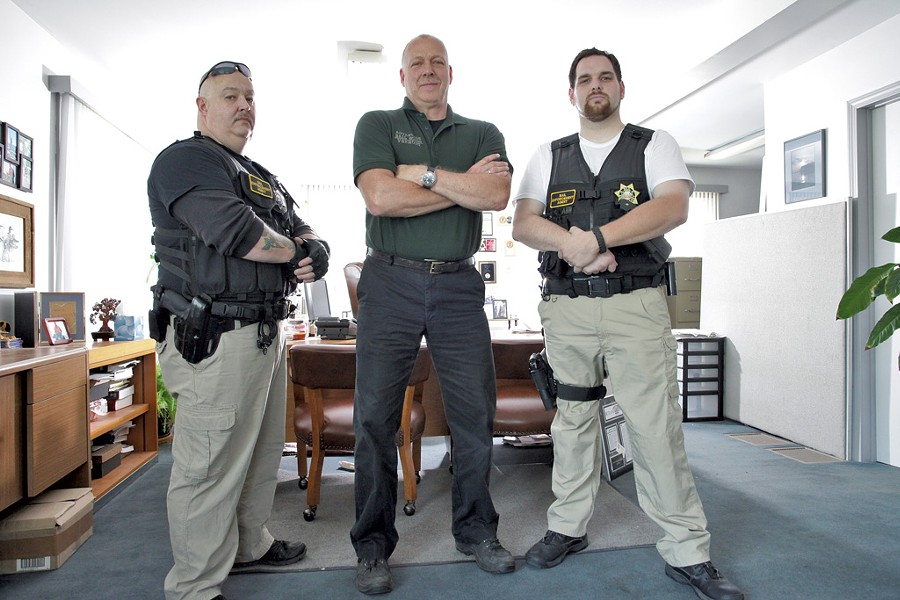 The agents of Advantage Bail Bonds Vermont: Travis Campbell, Bill Burnett and Jeffrey Stewart - MATTHEW THORSEN