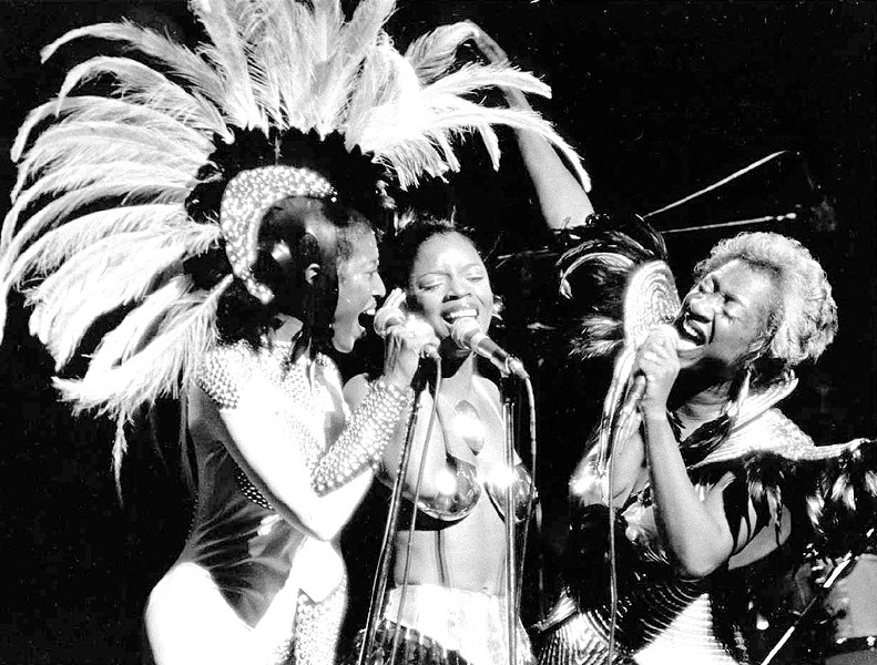 Patti LaBelle (right) performing with Labelle in 1974 - COURTESY