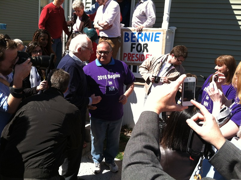 Sen. Bernie Sanders (I-Vt.) campaigns in May in New Hampshire. - TERRI HALLENBECK