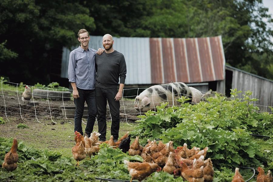Ardelia Farm & Co. co-owners Thomas McCurdy (left) and Bailey Hale - COURTESY OF BRENT HARREWYN