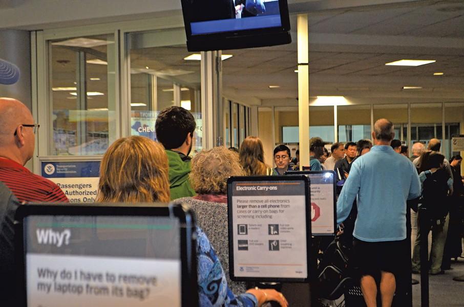 The southern TSA checkpoint at BTV - MOLLY WALSH