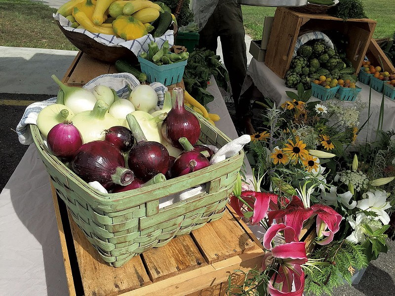 Produce and flowers at Vergennes Farmers Market - COURTESY OF VERGENNES FARMERS MARKET