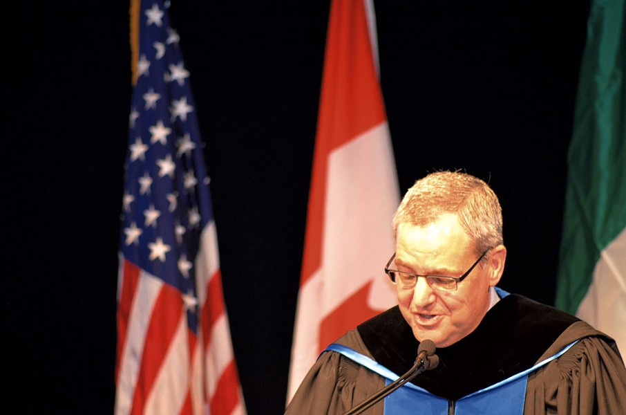 Donald Laackman delivering his inaugural address in 2014 - FILE: MATTHEW ROY