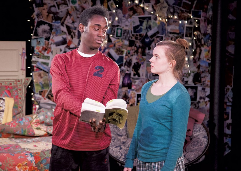 Jabari Matthew and Victoria Fearn in I and You - COURTESY OF VERMONT STAGE