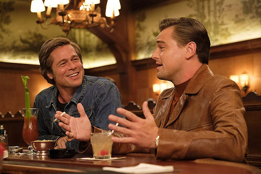 TRUE BROMANCE Pitt and DiCaprio are perfection as old friends struggling to navigate new times.