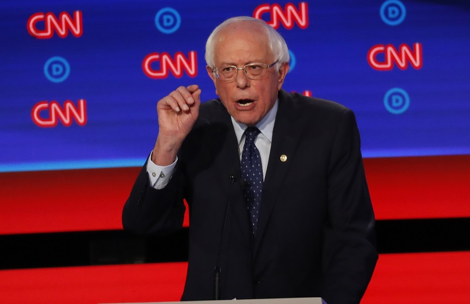Sen. Bernie Sanders at the debate - AP/PAUL SANCYA