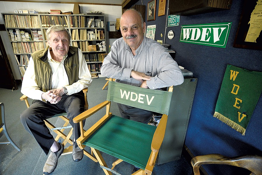 Ken Squier and Steve Cormier at WDEV Radio - JEB WALLACE-BRODEUR