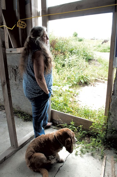 Merri Paquin in the new barn - HANNAH PALMER EGAN