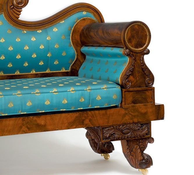 Nahum Parker sofa, 1830 - COURTESY OF THE SHELBURNE MUSEUM