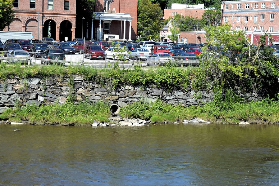 A Montpelier lot that drains directly into the Winooski River - TERRI HALLENBECK