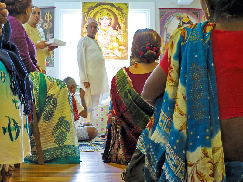 A Hindu gathering last week - MATTHEW THORSEN