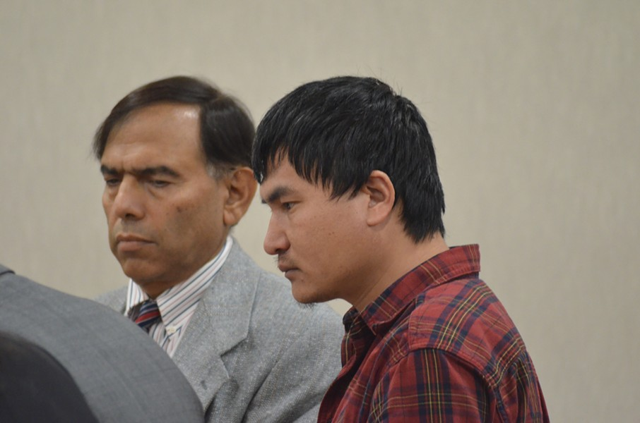 Aita Gurung in court Friday - SASHA GOLDSTEIN
