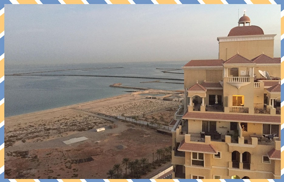At home in Ras Al Khaimah - COURTESY OF NANCY STEARNS BERCAW