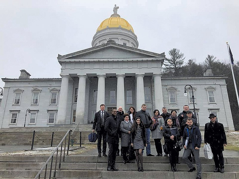 A Ukrainian delegation visiting Vermont in April - COURTESY OF JAMES GUNGER