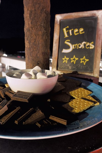 Fixins for s'mores at Zenbarn - JEB WALLACE-BRODEUR
