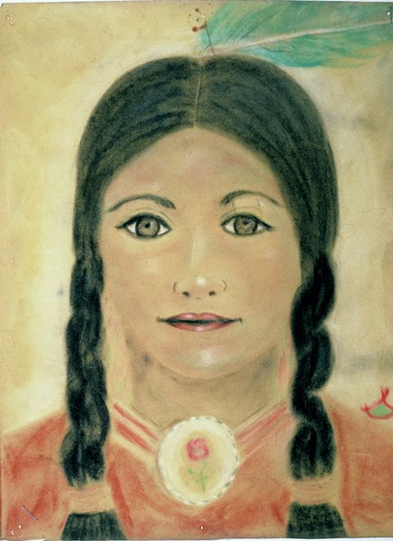 Portrait of a Native American spirit guide by Patricia Bartlett - COURTESY OF STEPHEN WEHMEYER