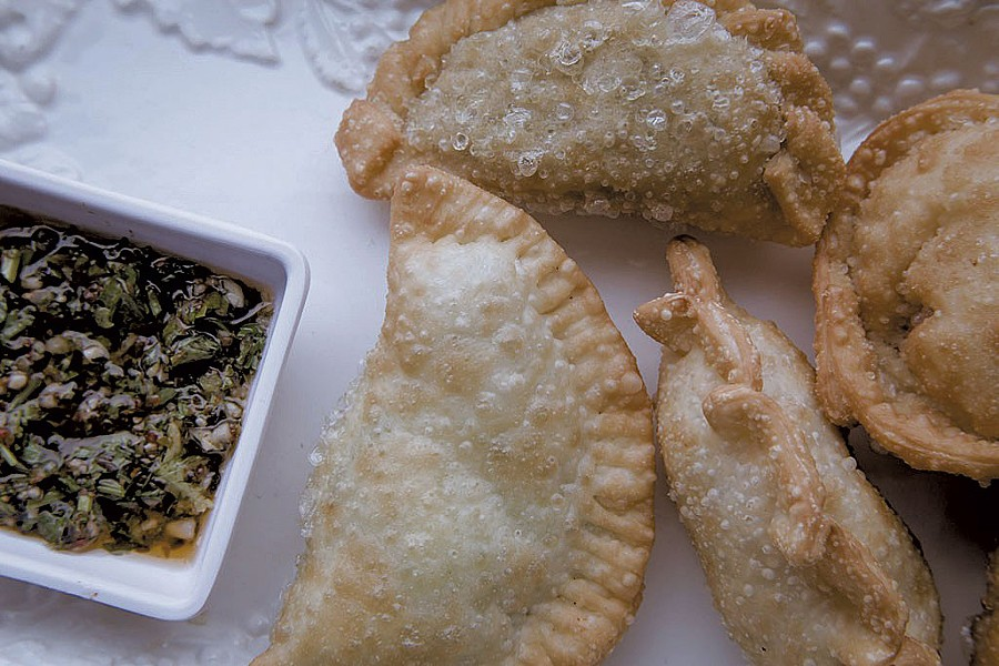 Vegetarian empanadas at Dale Boca Café - FILE: LUKE AWTRY