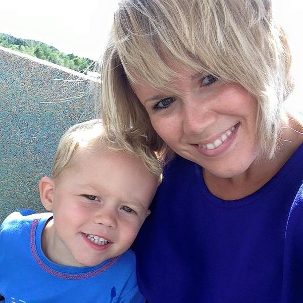 Brittney Larrabee Wilson and her son, Gage - COURTESY